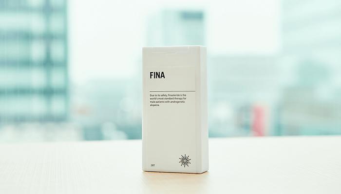 FINA(フィナステリド配合内服薬)のパッケージデザイン